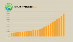 graph showing solar panel net returns loans in hawaii