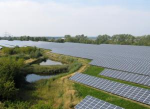 solar panel installations field