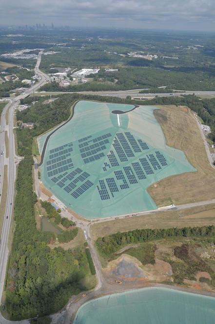 solar landfill after