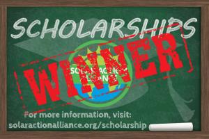 scholarship winner sign