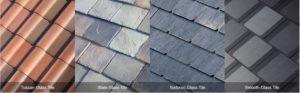 different textured tiles