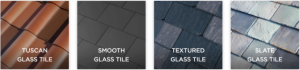 different textured tiles
